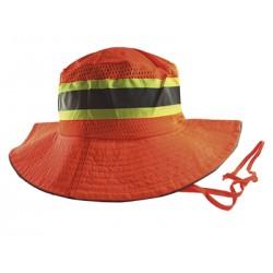 Sombrero reflectivo naranja para contratistas LG/XL.