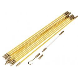 Guia de fibra de vidrio segmentada de 3.30mts de longitud tipo dielectrica.