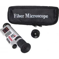 Microscopio para fibra óptica para inspección de férulas en conectores ST/SC/FC/LC/MU de 400X.